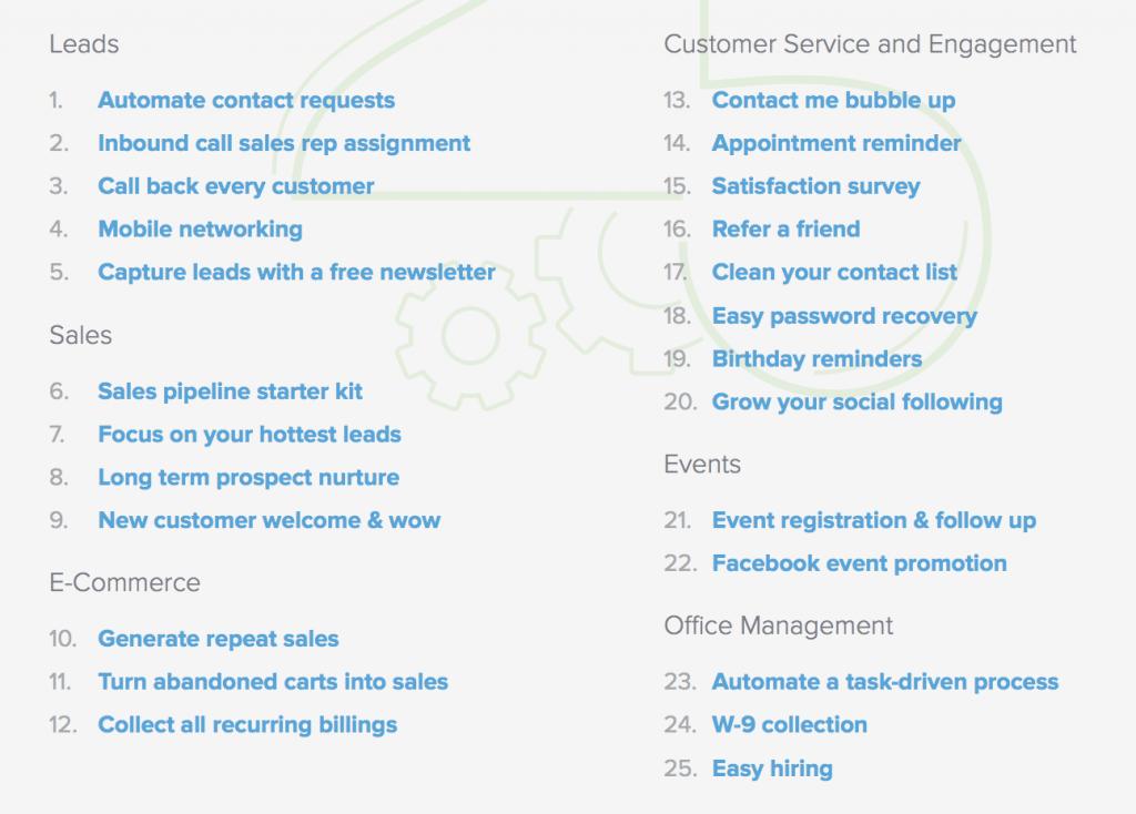 Kokoro 25 things to automate list