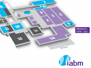 IABM lounge map location 2016