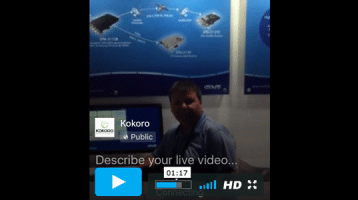Facebook Live during NAB with Stephane from DekTec