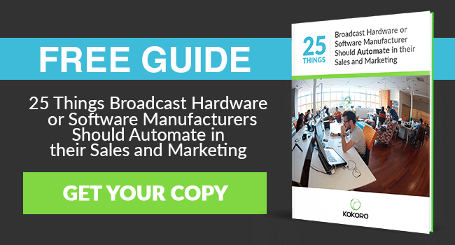 25 Things Every Broadcast Video Hardware or Software Manufacturer Should Automate Guide
