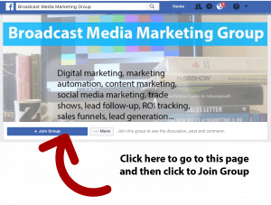 Join the Broadcast Media Marketing Facebook Group