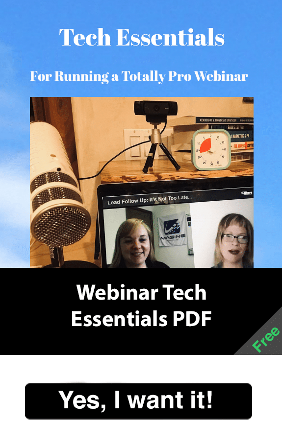 Get this simple guide with the tech info you need for running a totally pro webinar.