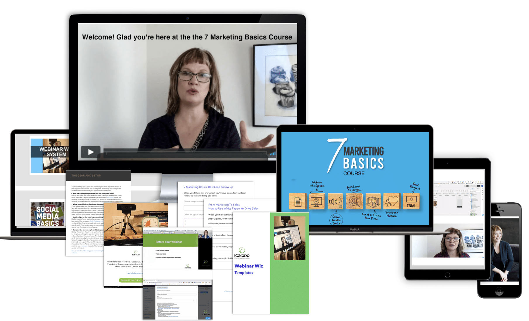 Find out about the 7 Marketing Basics here.  Do less!  Get more results!