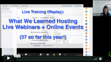 live event and webinar zoom breakout room webinar training