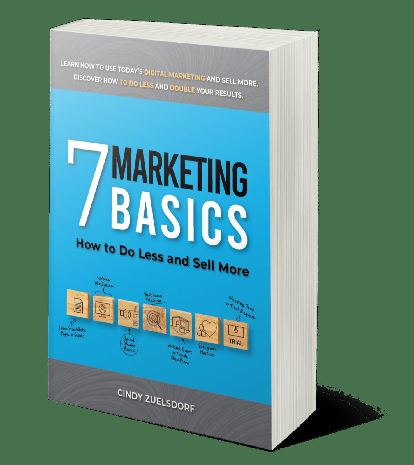 7 Marketing Basics book - order on amazon