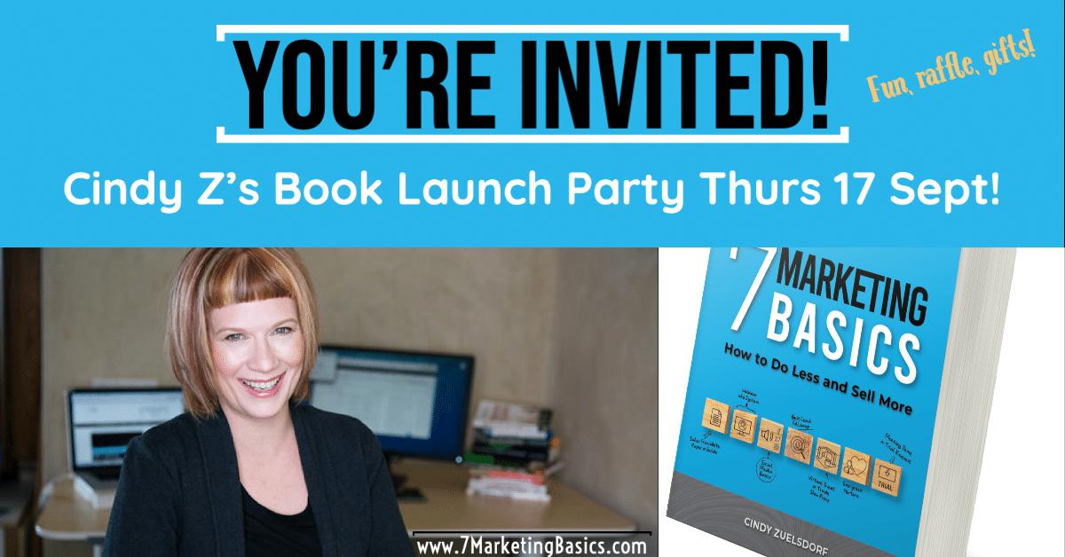 7 Marketing Basics Book Launch