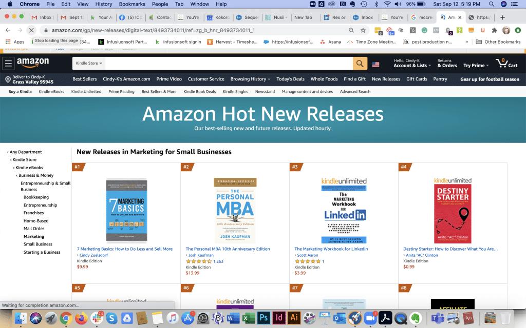 7 marketing basics book on Amazon #1 New Release