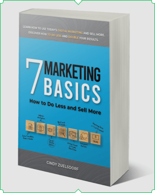 7 Marketing Basics book by Cindy Zuelsdorf  on Amazon